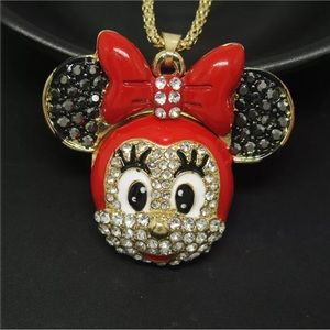 Red Minnie Mouse necklace
